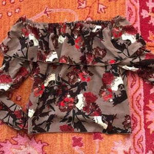 Aritzia Wilfred Floral OTS top
